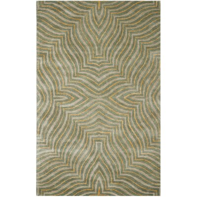 Soho Blue/Ivory Rug Rug Size: Rectangle 5 x 8