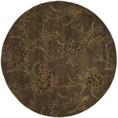 Soho Brown Area Rug Rug Size: Round 5'