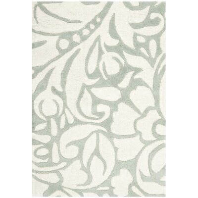 Soho Blue/Ivory Rug Rug Size: Rectangle 2 x 3