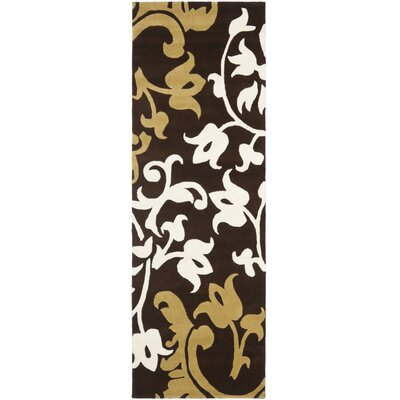 Soho Brown/Multi Rug Rug Size: Runner 26 x 8