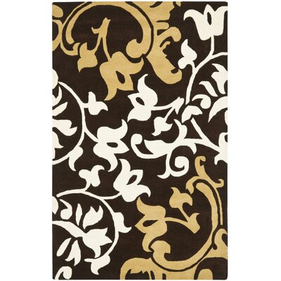 Soho Brown / Light Multi Contemporary Rug Rug Size: Rectangle 5 x 8