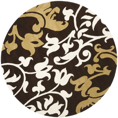 Soho Brown/Multi Rug Rug Size: Round 6