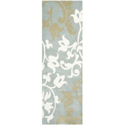 Soho Blue/Multi Rug Rug Size: Runner 26 x 8