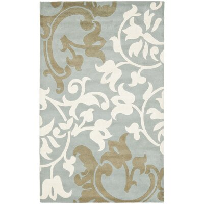 Soho Blue / Light Multi Contemporary Rug Rug Size: 36 x 56