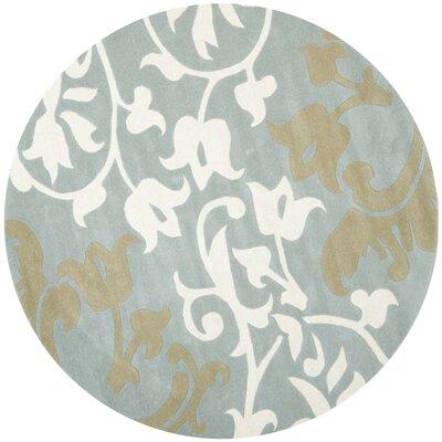 Soho Blue/Multi Rug Rug Size: Round 8