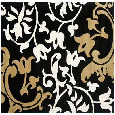 Soho Black/Multi Rug Rug Size: Square 6