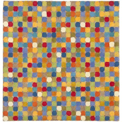Soho Dark Light Multi Contemporary Rug Rug Size: Square 6