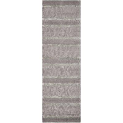 Soho Light Grey Area Rug Rug Size: Runner 26 x 8