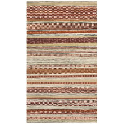 Striped Kilim Beige Area Rug Rug Size: 4 x 6