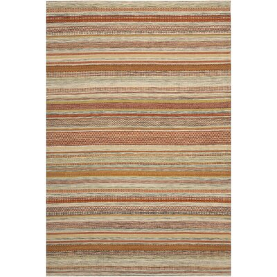 Striped Kilim Beige Area Rug Rug Size: 10 x 14