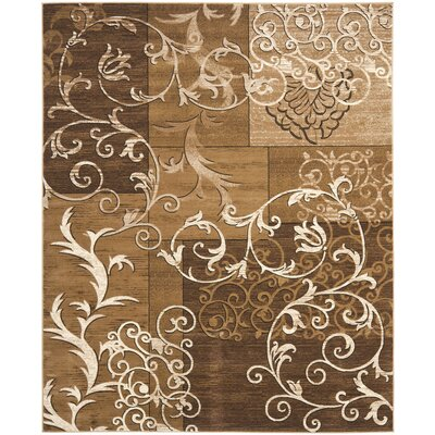 Timeless Fashion Dark Beige/Ivory Rug Rug Size: 8 x 10