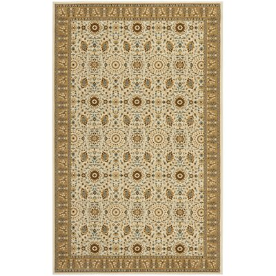 Treasures Ivory/Caramel Rug Rug Size: Rectangle 4 x 6