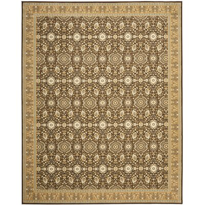 Treasures Brown/Caramel Rug Rug Size: Rectangle 89 x 12