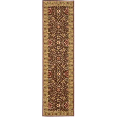 Treasures Red/Caramel Rug Rug Size: Runner 22 x 8