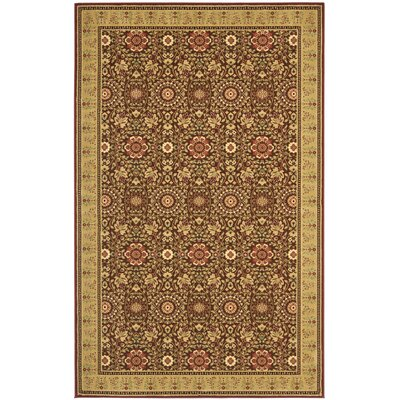 Treasures Red/Caramel Rug Rug Size: Rectangle 4 x 6