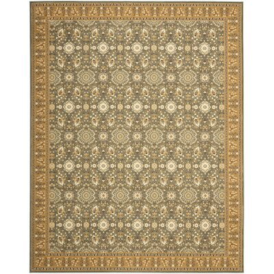 Treasures Blue/Caramel Rug Rug Size: Rectangle 89 x 12