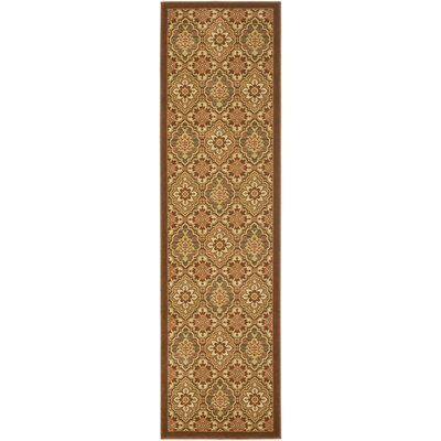 Treasures Brown Area Rug Rug Size: Runner 22 x 8