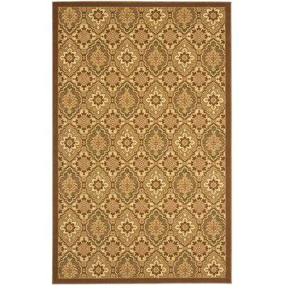 Treasures Brown Area Rug Rug Size: Rectangle 51 x 8