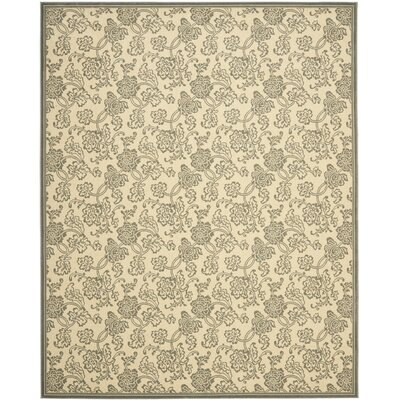 Treasures Ivory/Blue Rug Rug Size: 4 x 6