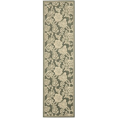 Treasures Blue/Ivory Rug Rug Size: Runner 2'2