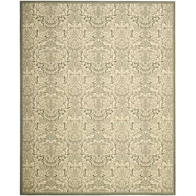 Treasures Light Blue/Ivory Rug Rug Size: 4 x 6