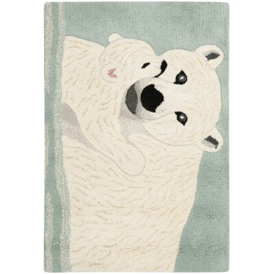 Wilderness Blue/Ivory Novelty Area Rug Rug Size: 2 x 3