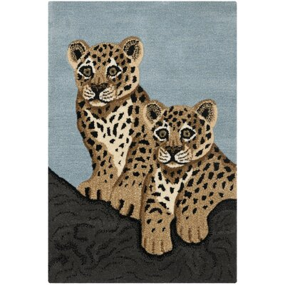 Wilderness Blue/Charcoal Novelty Area Rug Rug Size: 2 x 3