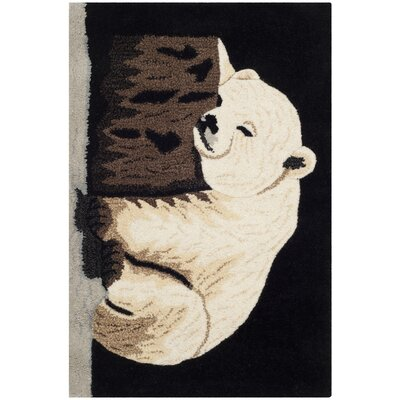 Wilderness Black/Ivory Novelty Area Rug Rug Size: 2 x 3