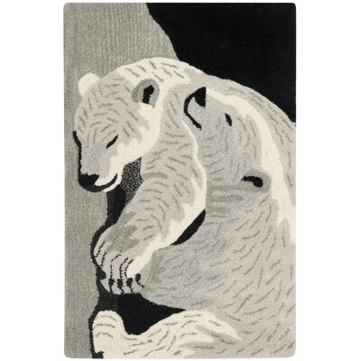 Wilderness Black/Grey Novelty Area Rug Rug Size: 2 x 3