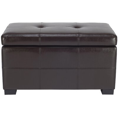 Maiden Leather Ottoman Upholstery: Brown