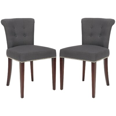 Arion Ring Upholstered Dining Chair Color: Smokey Grey