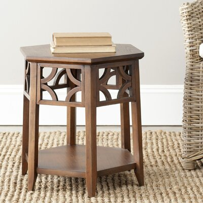 Connor Hexagon End Table Finish: Brown