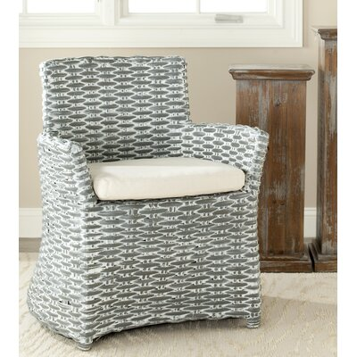 Renee Arm Chair Upholstery: Grey White Wash / White