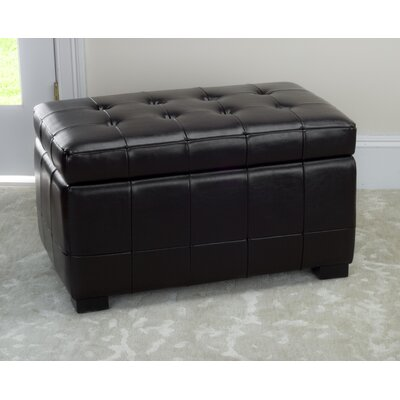 Strickland Storage Ottoman Upholstery: Black