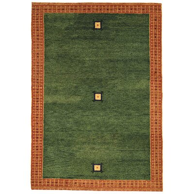 Gabbeh Green/Rust Rug Rug Size: Rectangle 6' x 8'