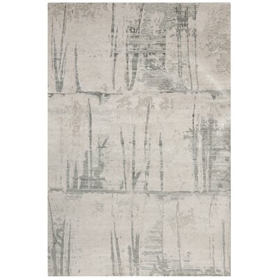 Tibetan Grey Rug 6x9 Rectangular