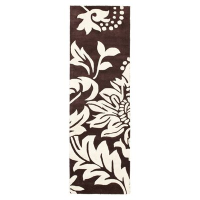 Soho Light Brown / Dark Ivory Contemporary Rug Rug Size: Runner 26 x 6