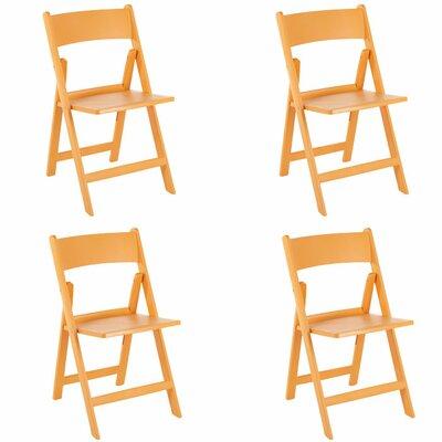 Joan Folding Chair Color: Orange