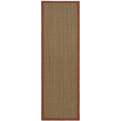Greene Rust Area Rug with Wheat Trim Rug Size: Runner 26 x 8