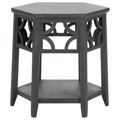 Connor Hexagon End Table Color: Charcoal Grey