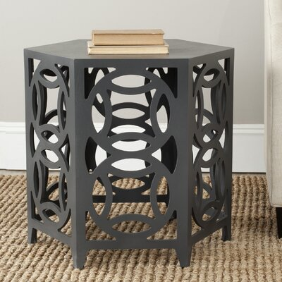 Livingston End Table Color: Charcoal Grey