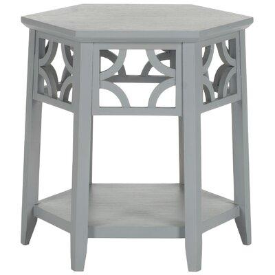 Connor Hexagon End Table Color: Pearl Blue Grey