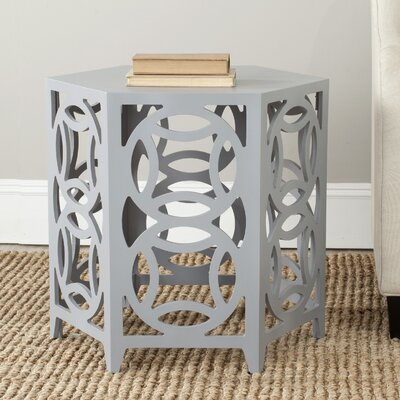 Livingston End Table Color: Pearl Blue Grey