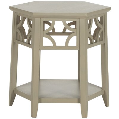 Connor Hexagon End Table Color: Pearl Taupe