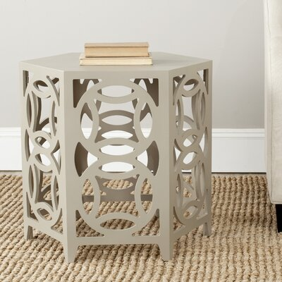 Livingston End Table Color: Pearl Taupe