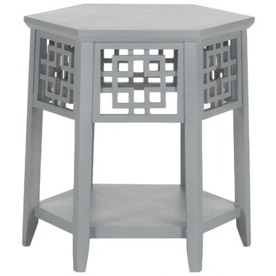 Zelda End Table Color: Pearl Blue Grey