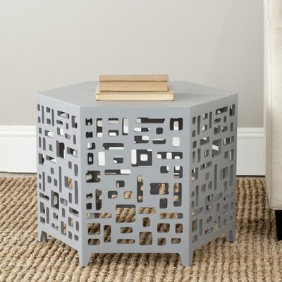Kelby End Table Color: Pearl Blue Grey