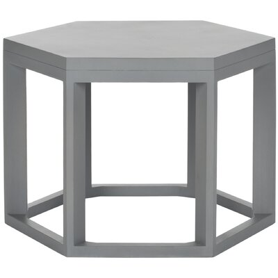 Heidi End Table Color: Pearl Blue Grey