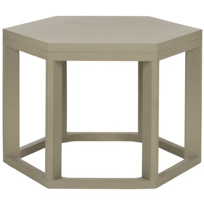 Heidi End Table Color: Pearl Taupe