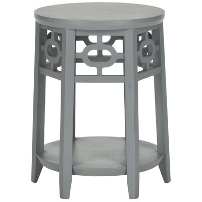 Adela End Table Color: Pearl Blue Grey